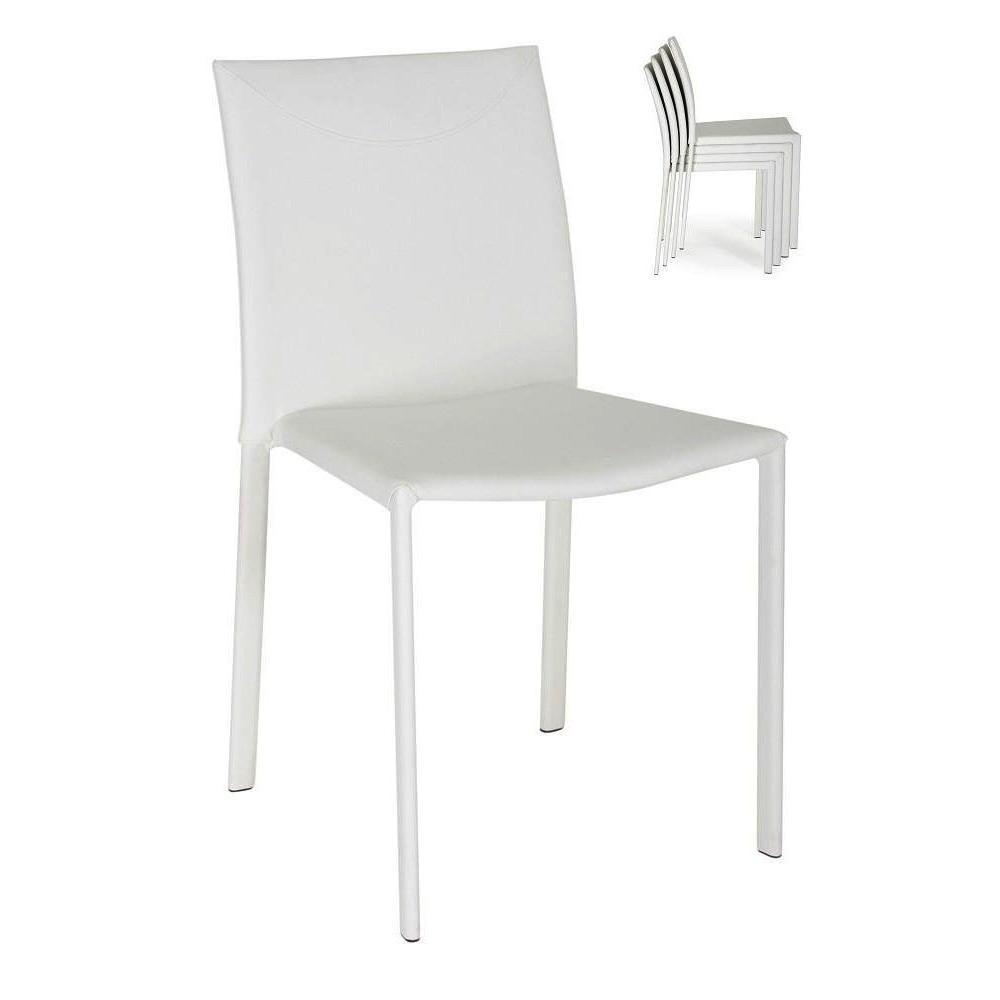 Chaises tables et chaises lot de 4 chaises empilables for Chaise empilable design
