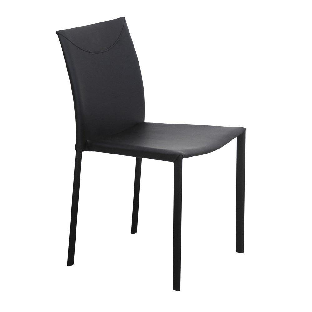 Chaises tables et chaises chicago chaise empilable fa on cuir noir design - Chaises design noires ...