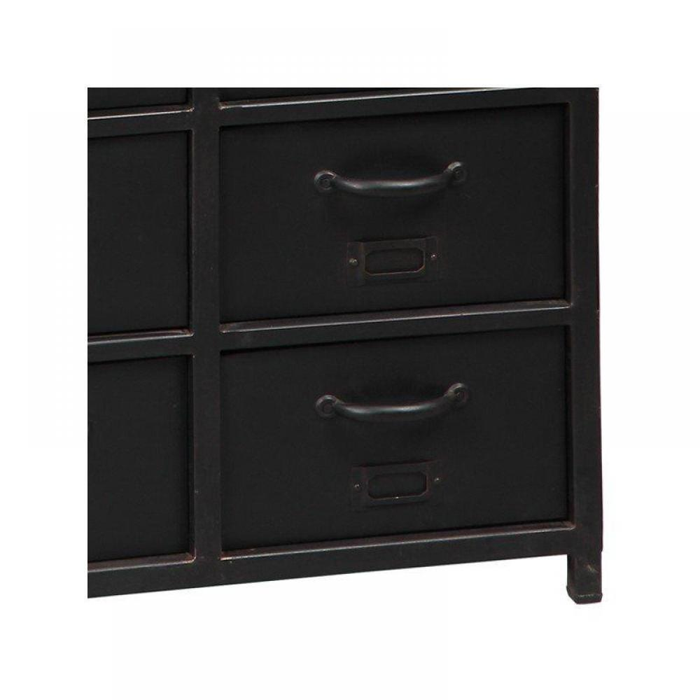 chiffonniers meubles et rangements chiffonnier ferro en acier 15 tiroirs inside75. Black Bedroom Furniture Sets. Home Design Ideas