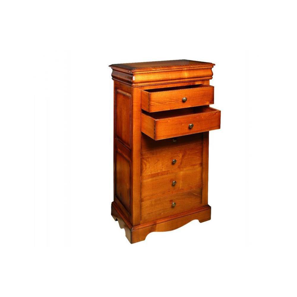 Chiffonniers meubles et rangements chiffonnier fontaine 6 tiroirs en merisi - Chiffonnier 6 tiroirs ...