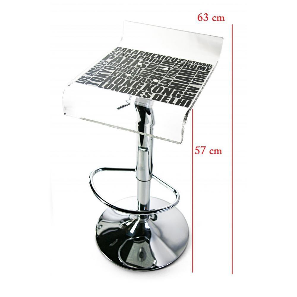 tabourets de bar tables et chaises city ecriture tabouret chaise de bar noir plexi acrila. Black Bedroom Furniture Sets. Home Design Ideas