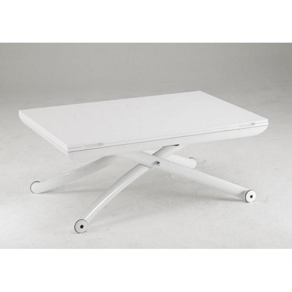 Table relevable extensible blanche for Table blanche extensible