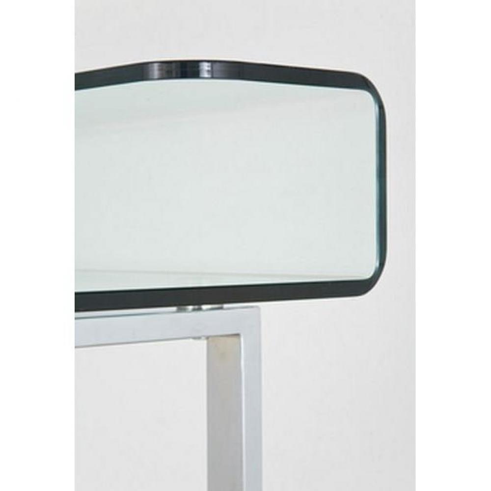 Meubles de bureau meubles et rangements bureau clear en verre et acier inox - Bureau verre et acier ...