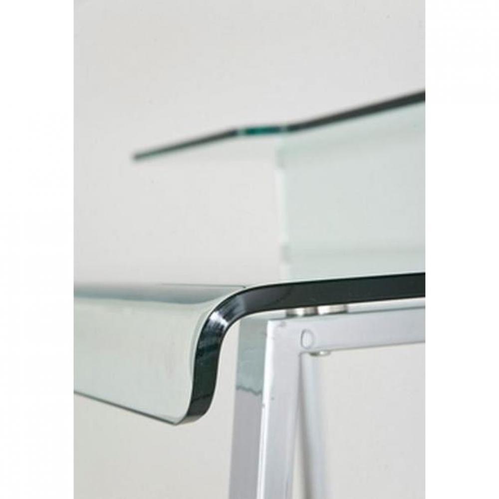 Meubles de bureau meubles et rangements bureau clear en verre et acier inox - Bureau acier et verre ...