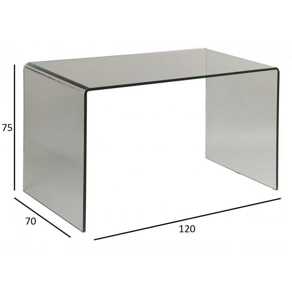 bureaux meubles et rangements clear bureau design en verre tremp inside75. Black Bedroom Furniture Sets. Home Design Ideas