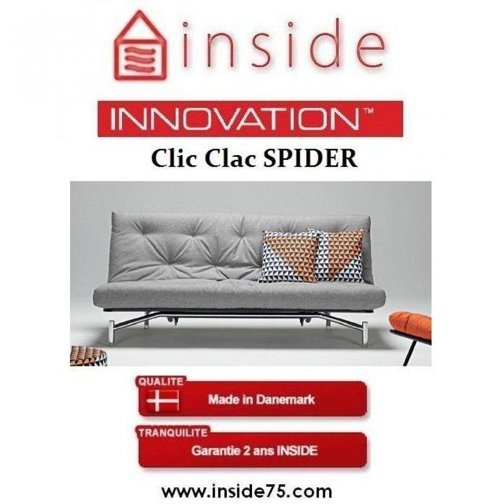 Buffets meubles et rangements canap lit design spider gris innovation conv - Clic clac innovation ...