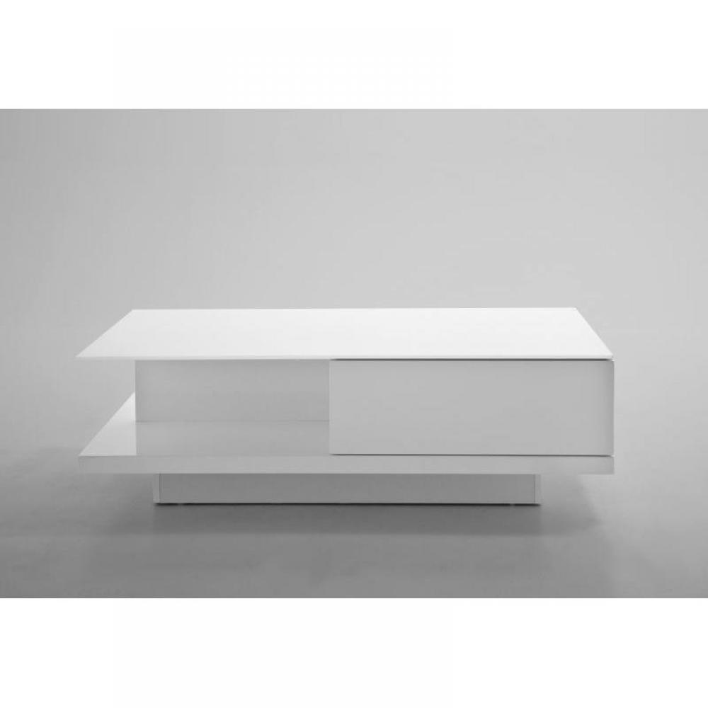 Tables basses tables et chaises table basse cliff - Table basse blanche avec tiroir ...