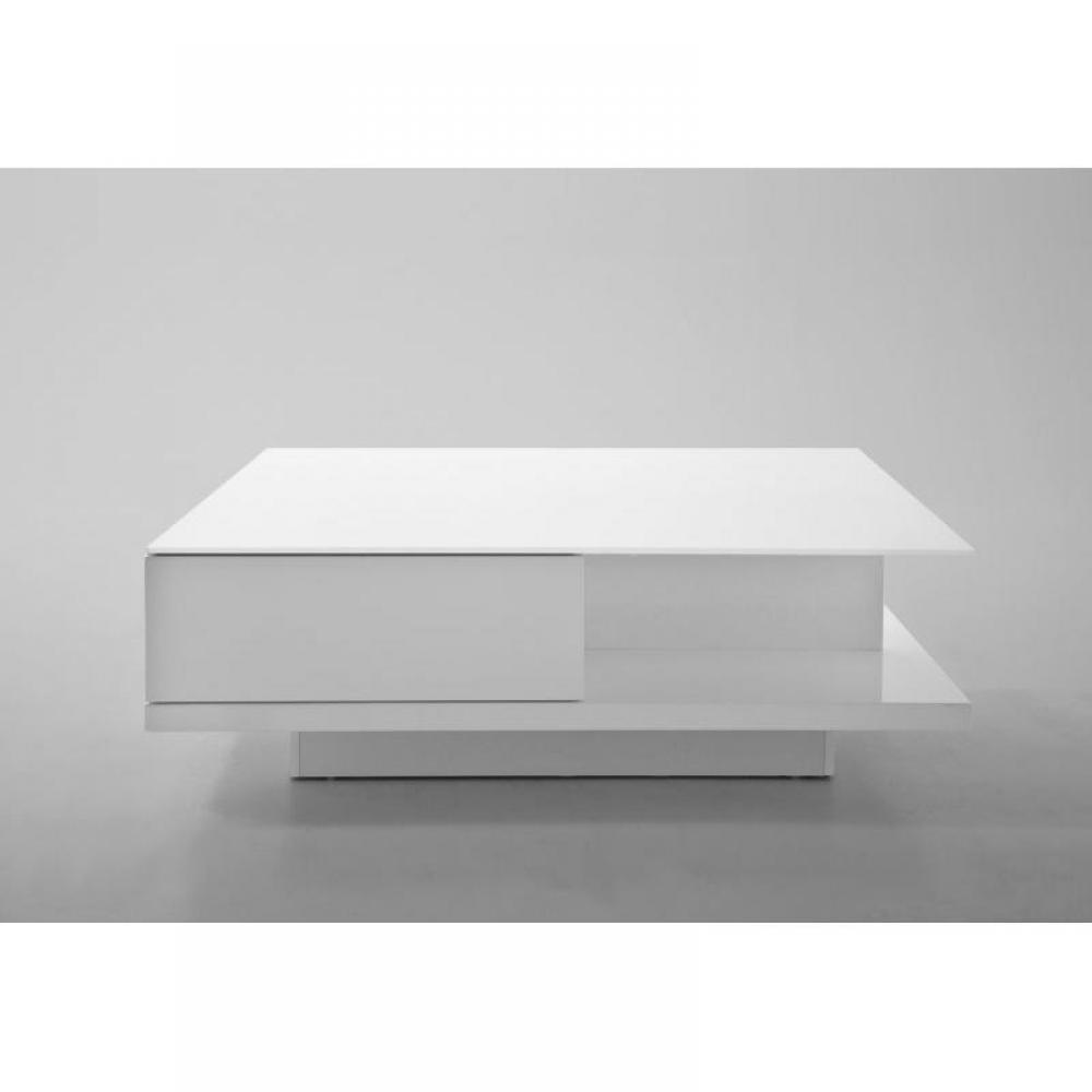 Tables basses tables et chaises table basse cliff blanche laqu e brillant a - Table basse blanche tiroir ...