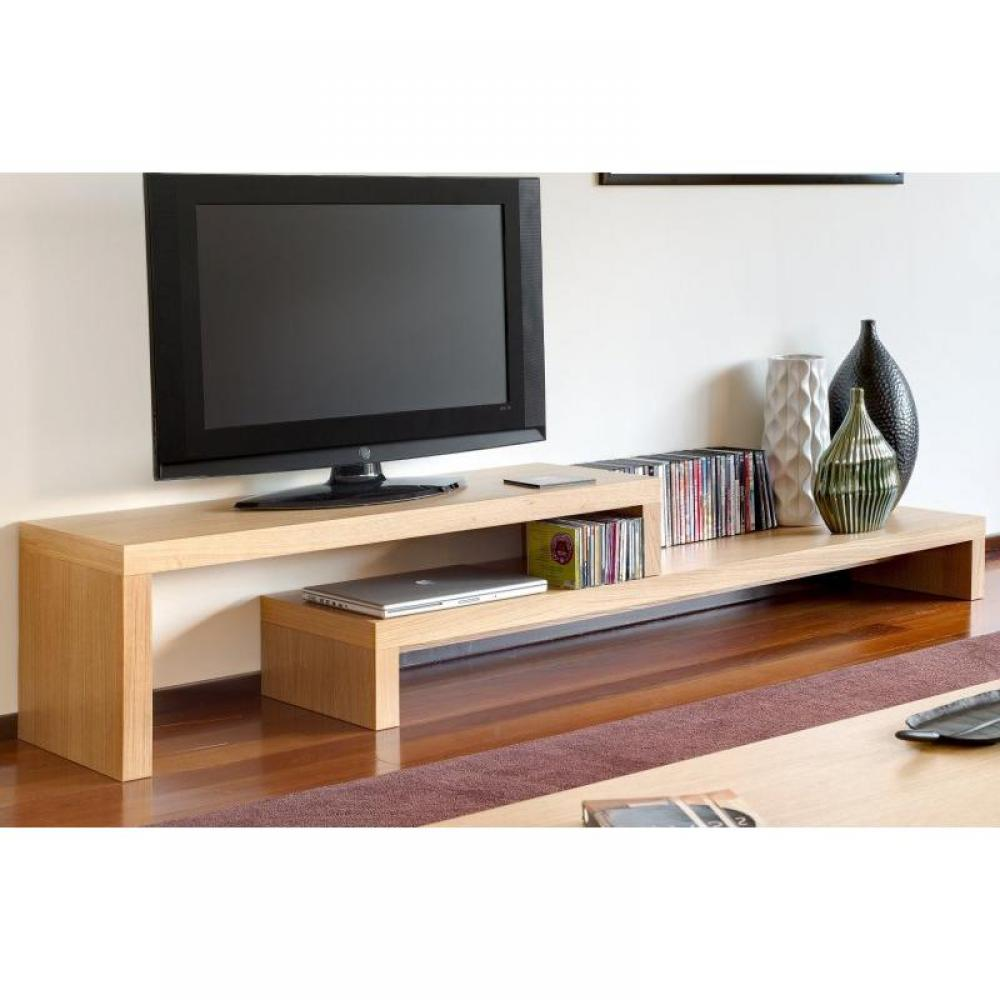 meubles tv meubles et rangements cliff 180 meuble tv avec placage mukali verni inside75. Black Bedroom Furniture Sets. Home Design Ideas
