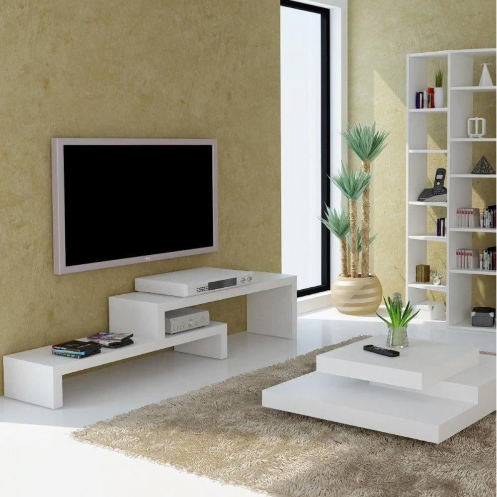 meubles tv meubles et rangements temahome cliff 180 meuble tv blanc mat design inside75. Black Bedroom Furniture Sets. Home Design Ideas