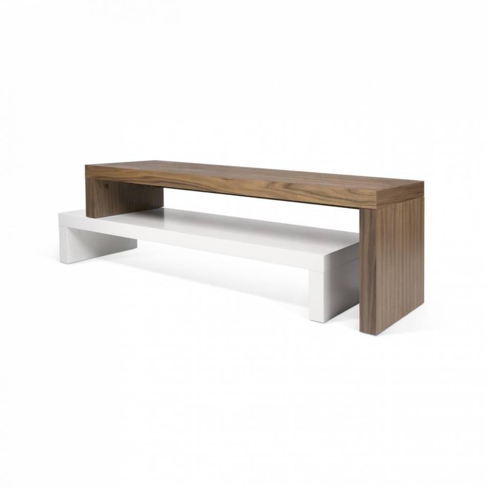 Meubles tv meubles et rangements cliff 120 meuble tv design laque blanc mat - Meuble tv blanc laque 120 cm ...