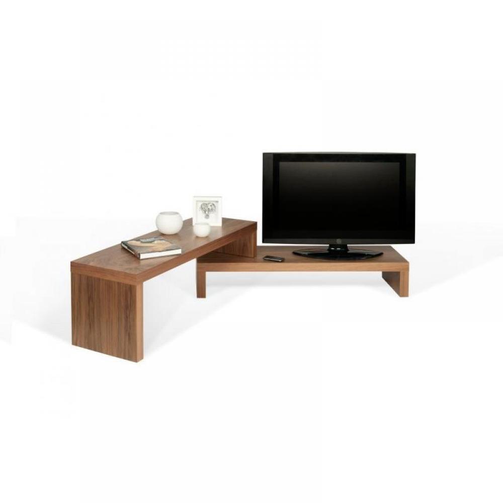 Meubles tv, meubles et rangements, CLIFF 120 meuble TV modulable en noyer  I -> Fond Led Meuble Tv