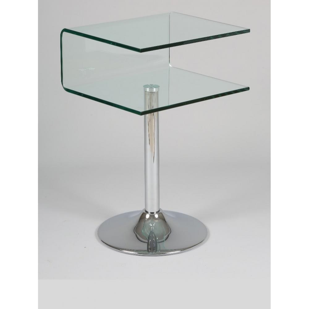 Bouts de canapes tables et chaises gu ridon clipper for Table bout de canape en verre