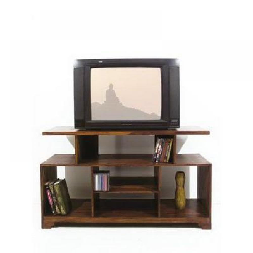meubles tv meuble tv bois palissandre sheesham style colonial inside75. Black Bedroom Furniture Sets. Home Design Ideas