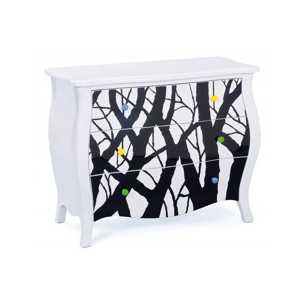 Commodes meubles et rangements commode alisha blanche 3 tiroirs inside75 - Commode blanche 3 tiroirs ...