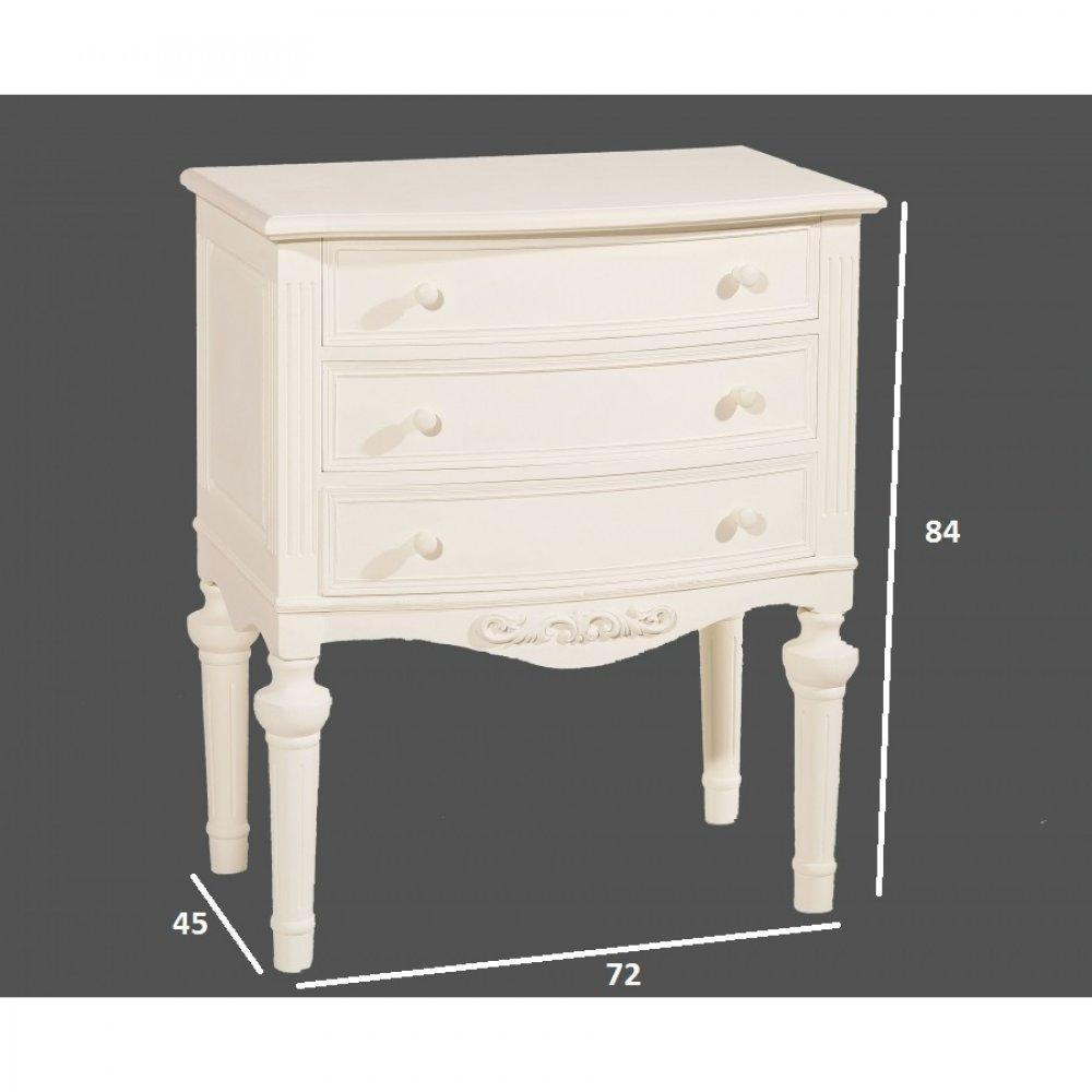 commodes meubles et rangements commode blanche 3 tiroirs. Black Bedroom Furniture Sets. Home Design Ideas