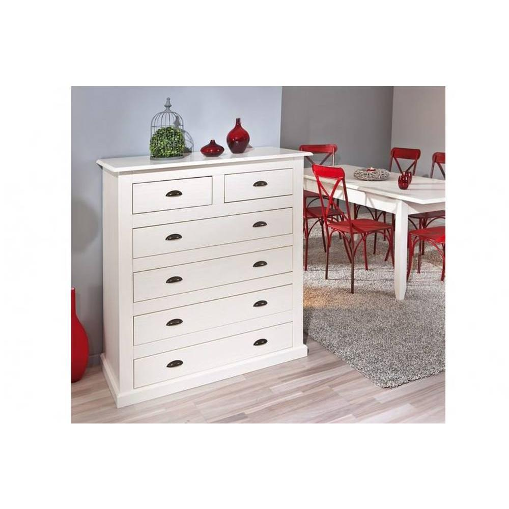 commodes meubles et rangements commode cassala en pin massif 6 tiroirs inside75. Black Bedroom Furniture Sets. Home Design Ideas
