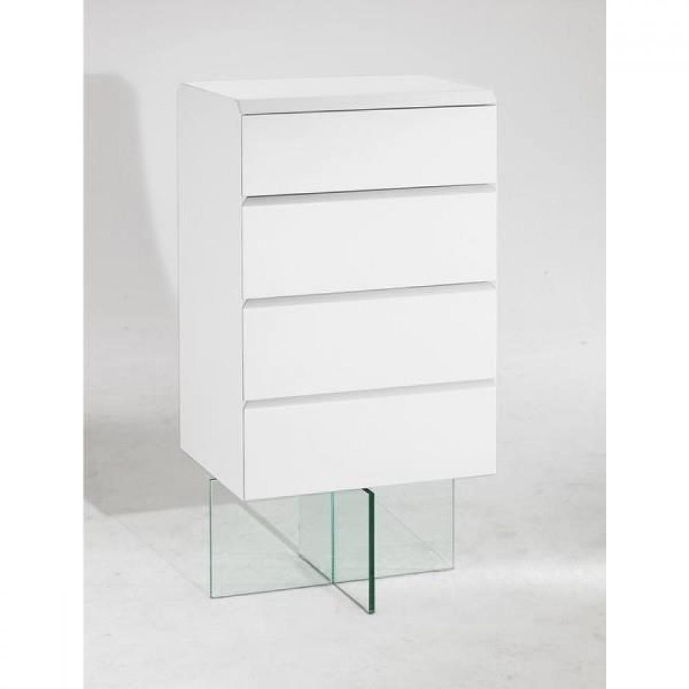 Commodes meubles et rangements commode design sigma blanche avec pi tement - Commode blanche design ...