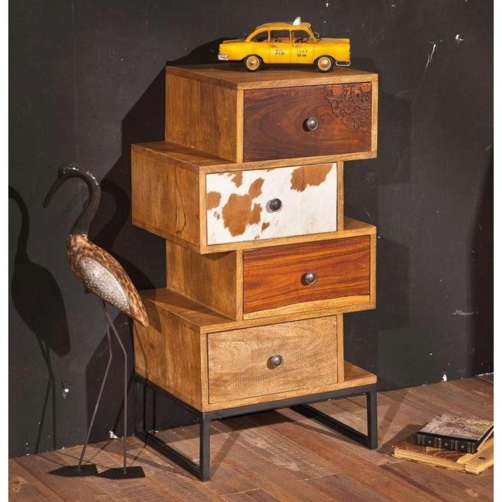 Commodes meubles et rangements commode sua 4 tiroirs en bois de manguier re - Commode bois recycle ...