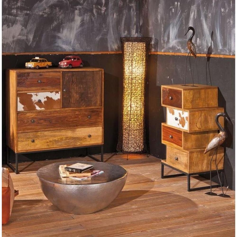 Commodes commode sua 4 tiroirs en bois de manguier recycle - Commode bois recycle ...