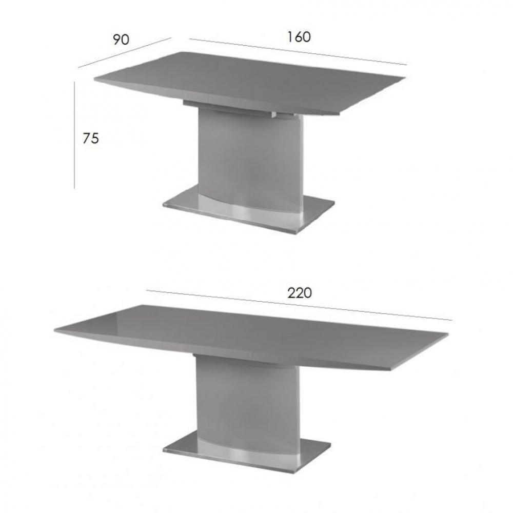 Table design extensible pied central for Pieds de table design pas cher