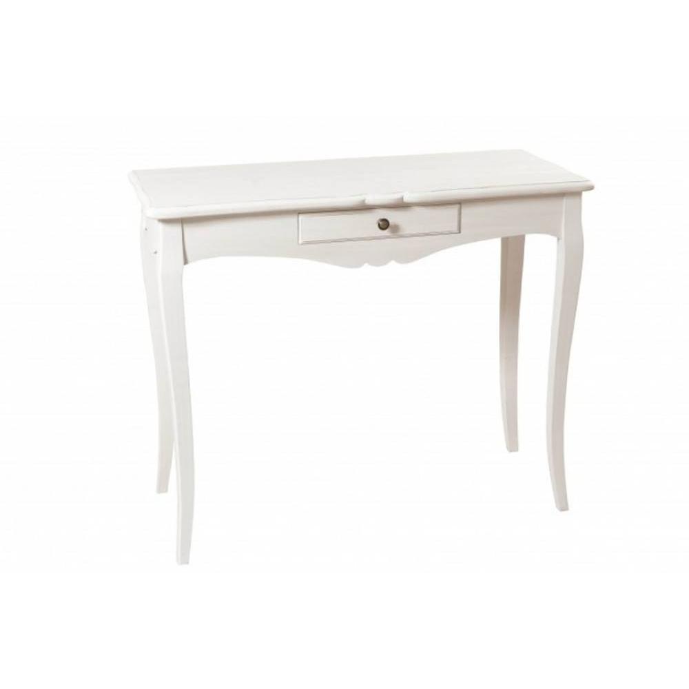 consoles tables et chaises console 1 tiroir anna blanche en fr ne style campagne inside75. Black Bedroom Furniture Sets. Home Design Ideas