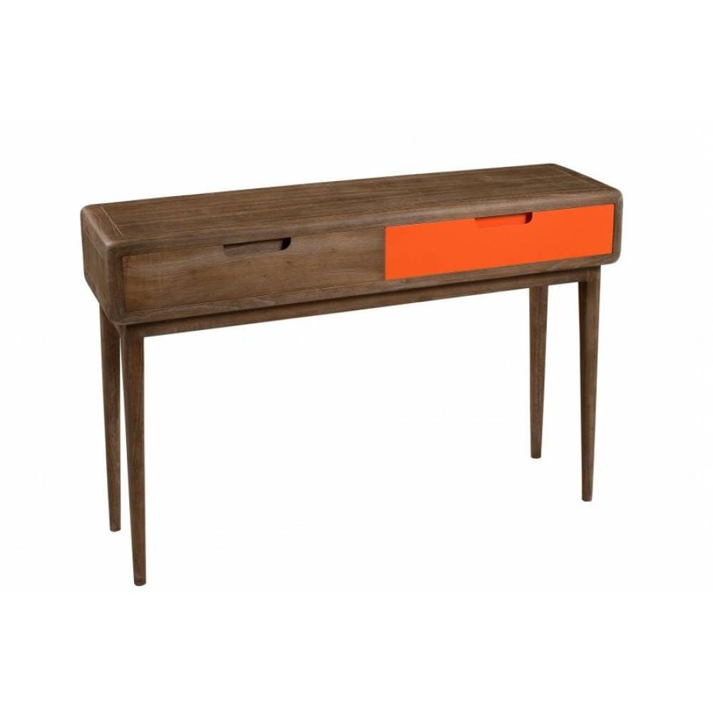 Consoles tables et chaises console 2 tiroirs lucas style colonial en mindi - Console style colonial ...