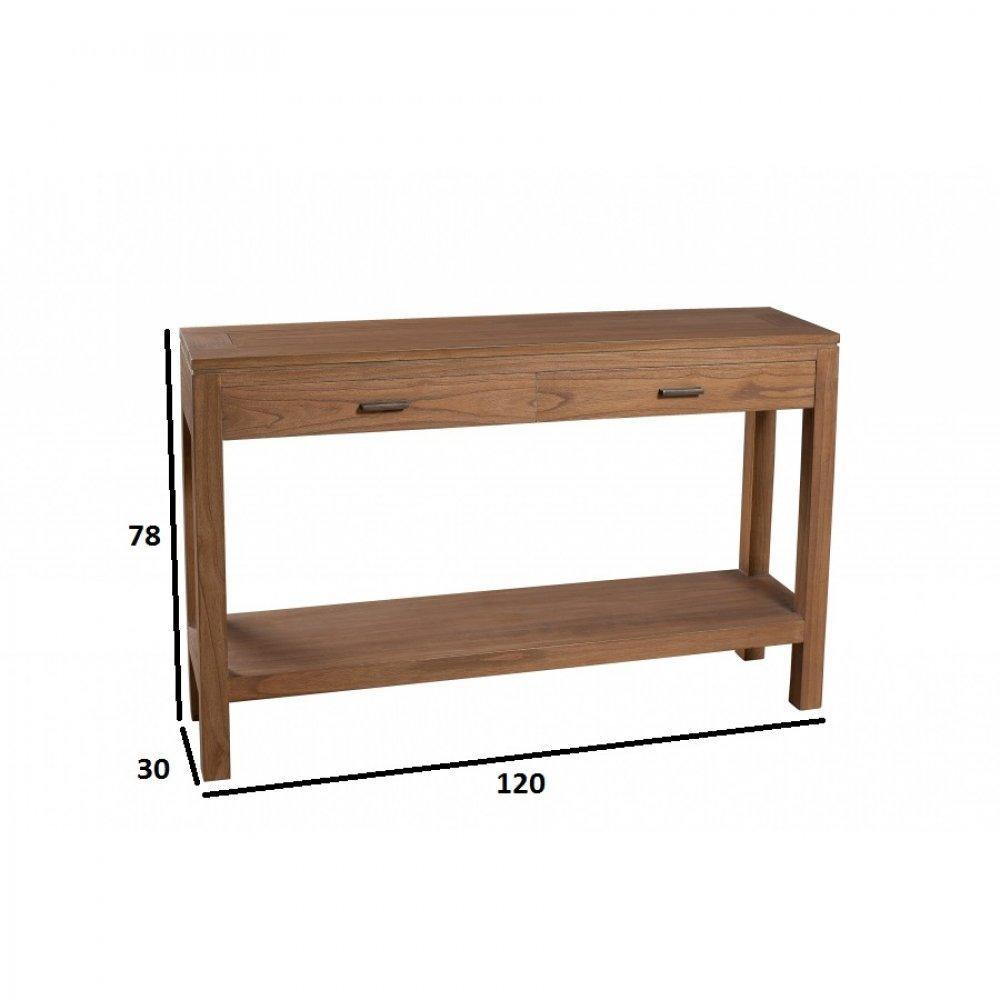 Consoles tables et chaises console design moderne 2 tiroirs laura en mindi - Console style colonial ...