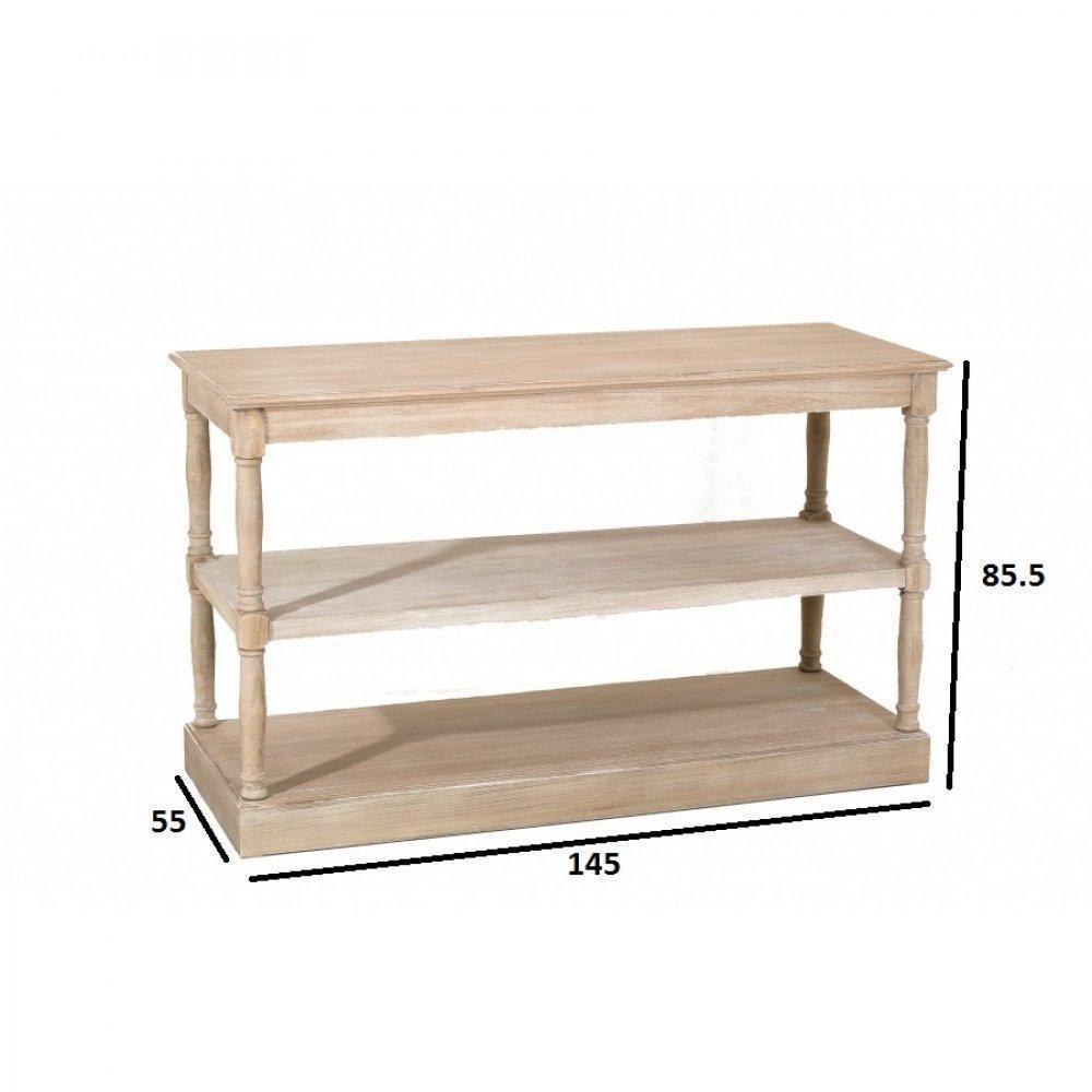 consoles tables et chaises console double tag res romane en bois de paulownia inside75. Black Bedroom Furniture Sets. Home Design Ideas
