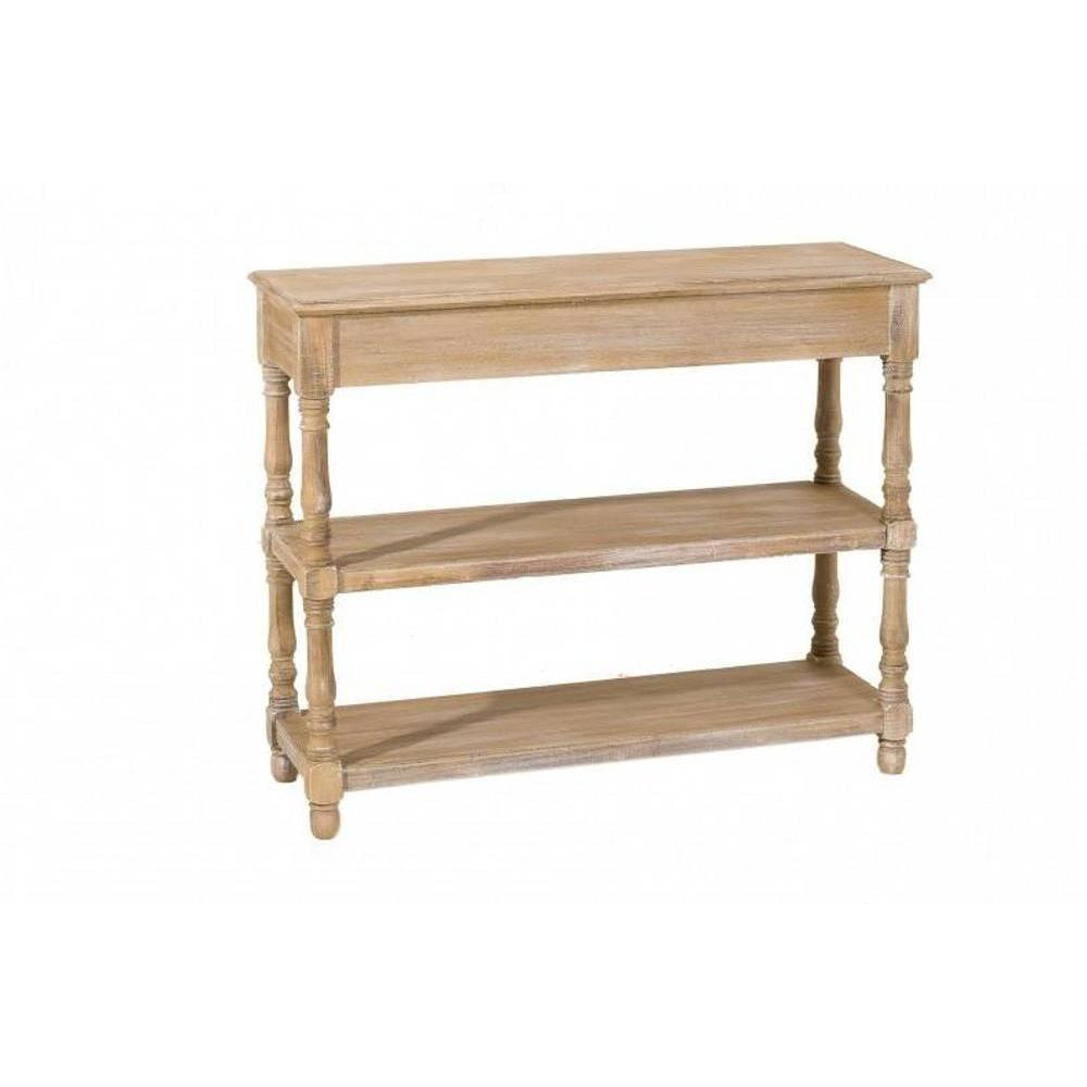 consoles tables et chaises console double tag res sarah en bois de paulownia style campagne. Black Bedroom Furniture Sets. Home Design Ideas