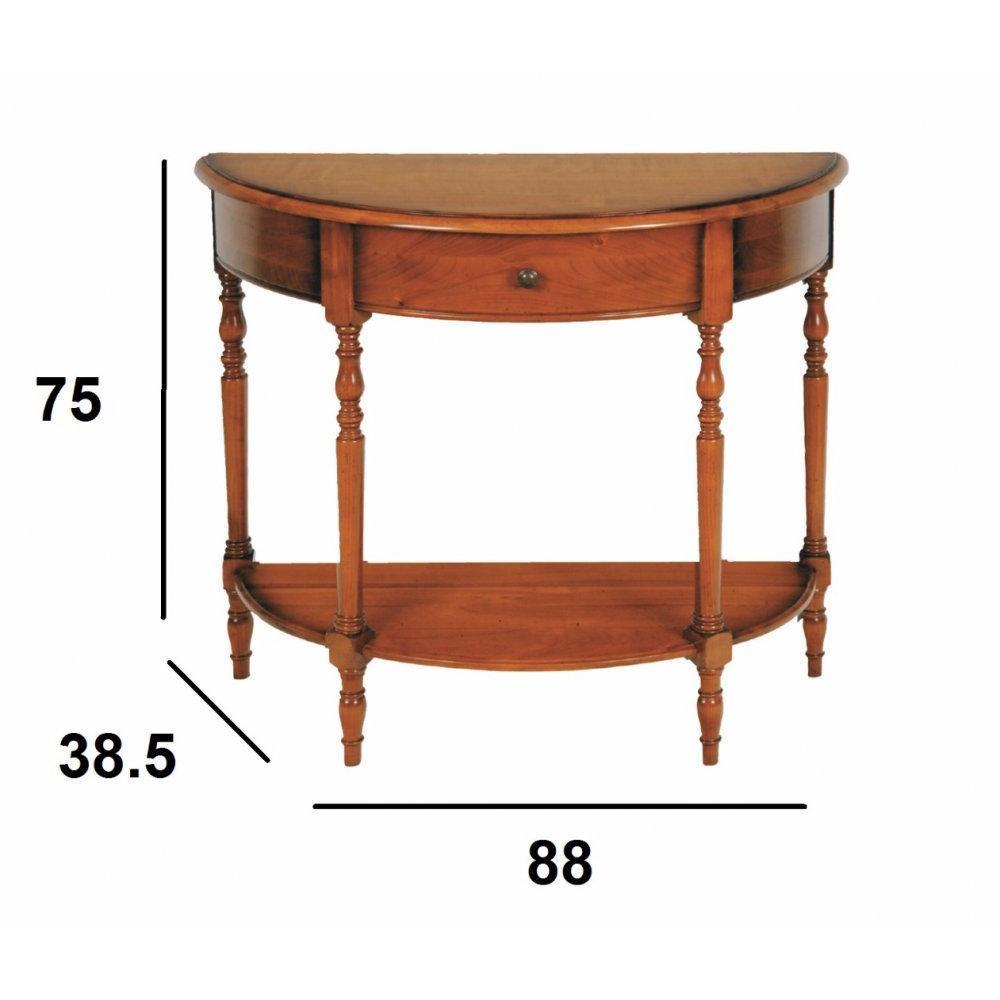 consoles tables et chaises console demi lune louvre 1. Black Bedroom Furniture Sets. Home Design Ideas
