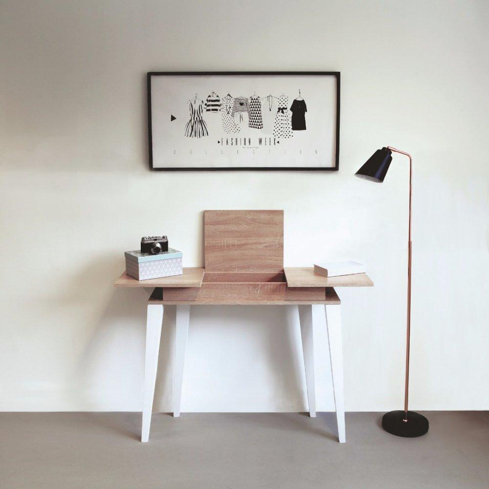 consoles tables et chaises console design scandinave square plateau abattant inside75. Black Bedroom Furniture Sets. Home Design Ideas