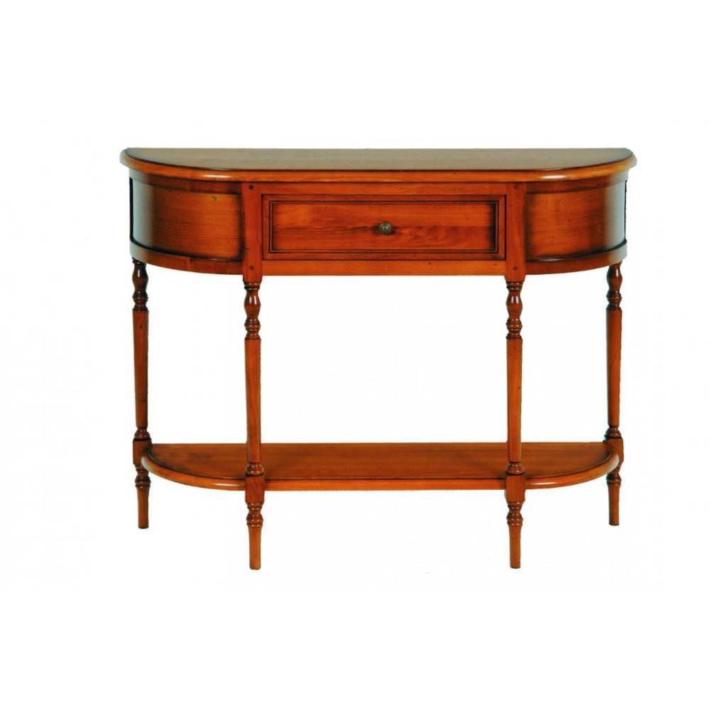 consoles tables et chaises console dumas 1 tiroir en merisier inside75. Black Bedroom Furniture Sets. Home Design Ideas