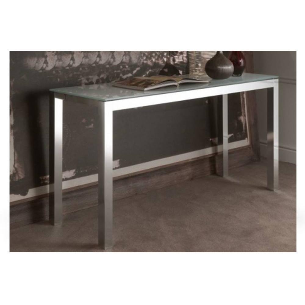 consoles extensibles tables et chaises console extensible atelier en verre et acier 140 x 47. Black Bedroom Furniture Sets. Home Design Ideas