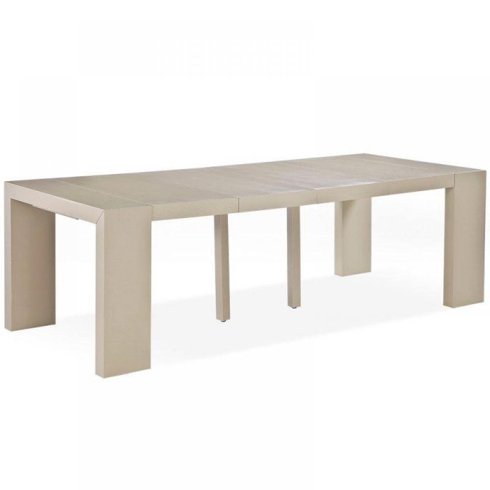 consoles extensibles tables et chaises console extensible sublimo taupe clair 12 couverts. Black Bedroom Furniture Sets. Home Design Ideas