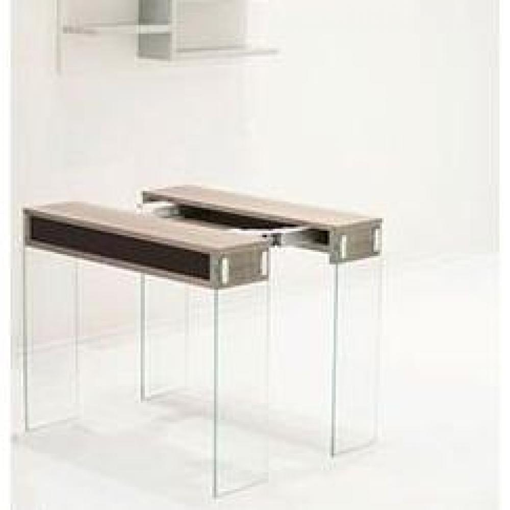 Consoles extensibles tables et chaises console extensible city noyer c rus - Console extensible verre ...