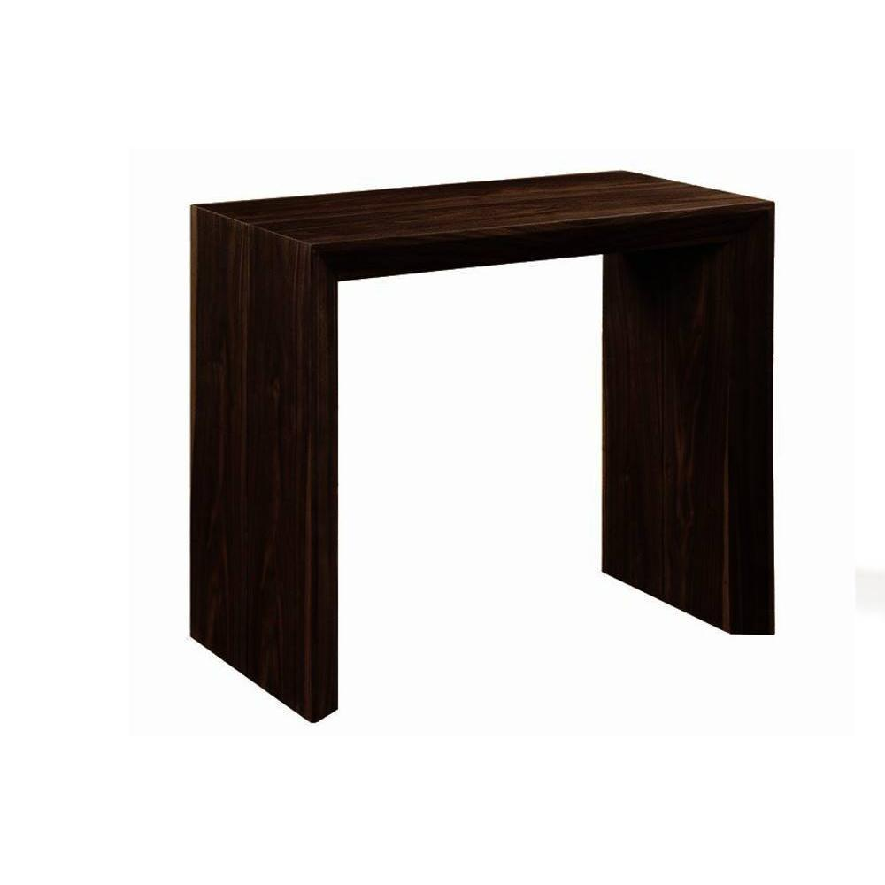 console extensible en table repas extenso deluxe bois noir. Black Bedroom Furniture Sets. Home Design Ideas