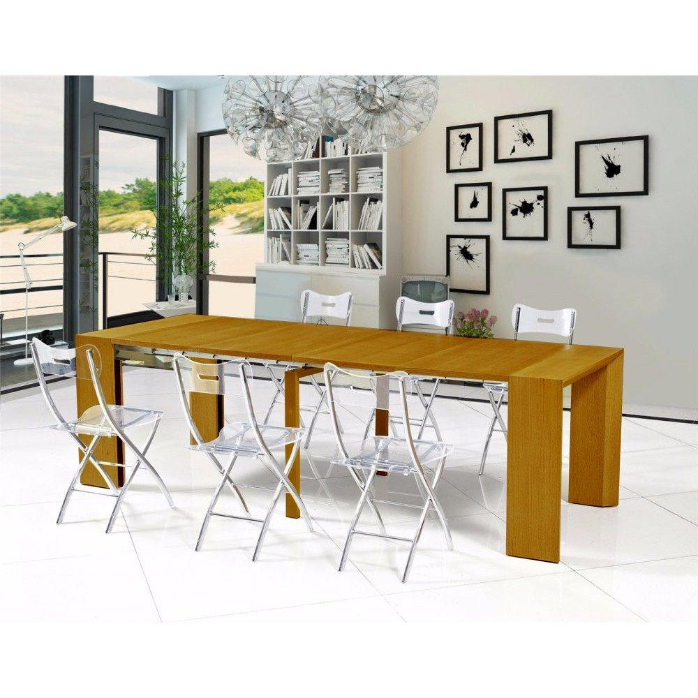 Table Console Extensible Chay Chêne Clair: Consoles Extensibles, Tables Et Chaises, Console