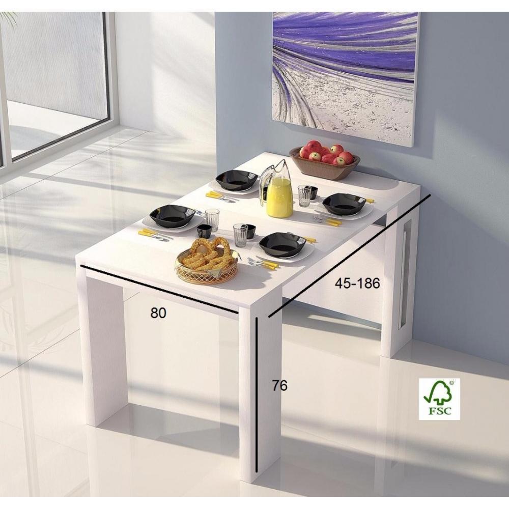 Consoles extensibles tables et chaises console extensible grandezza blanche - Table console extensible blanche ...