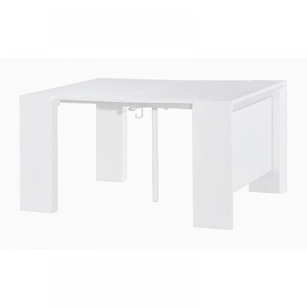 consoles extensibles tables et chaises console extensible misty blanc brillant allonges. Black Bedroom Furniture Sets. Home Design Ideas