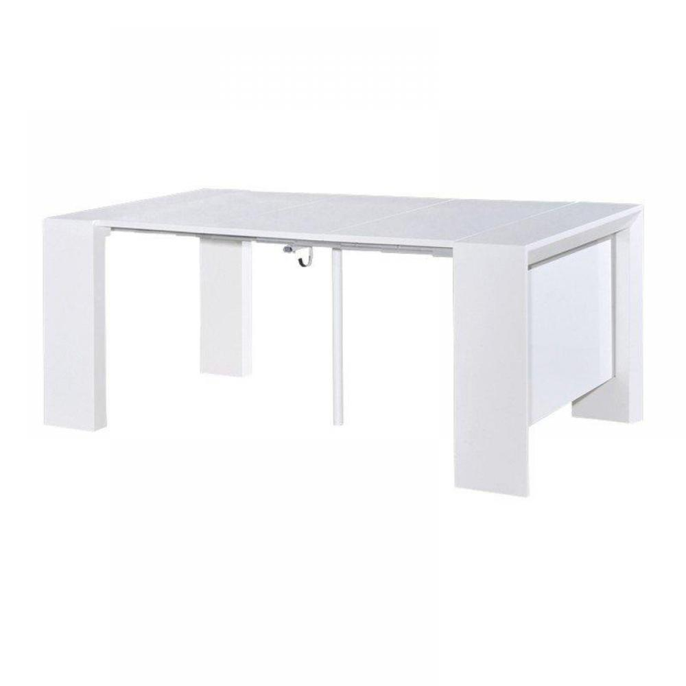 Console extensible rallonge integre for Table a rallonge console