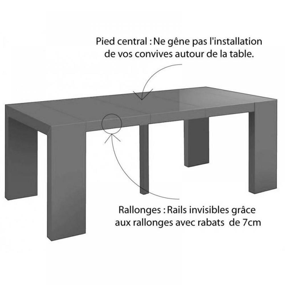 Consoles extensibles tables et chaises console extensible illusion xl laqu - Console extensible gris laque ...