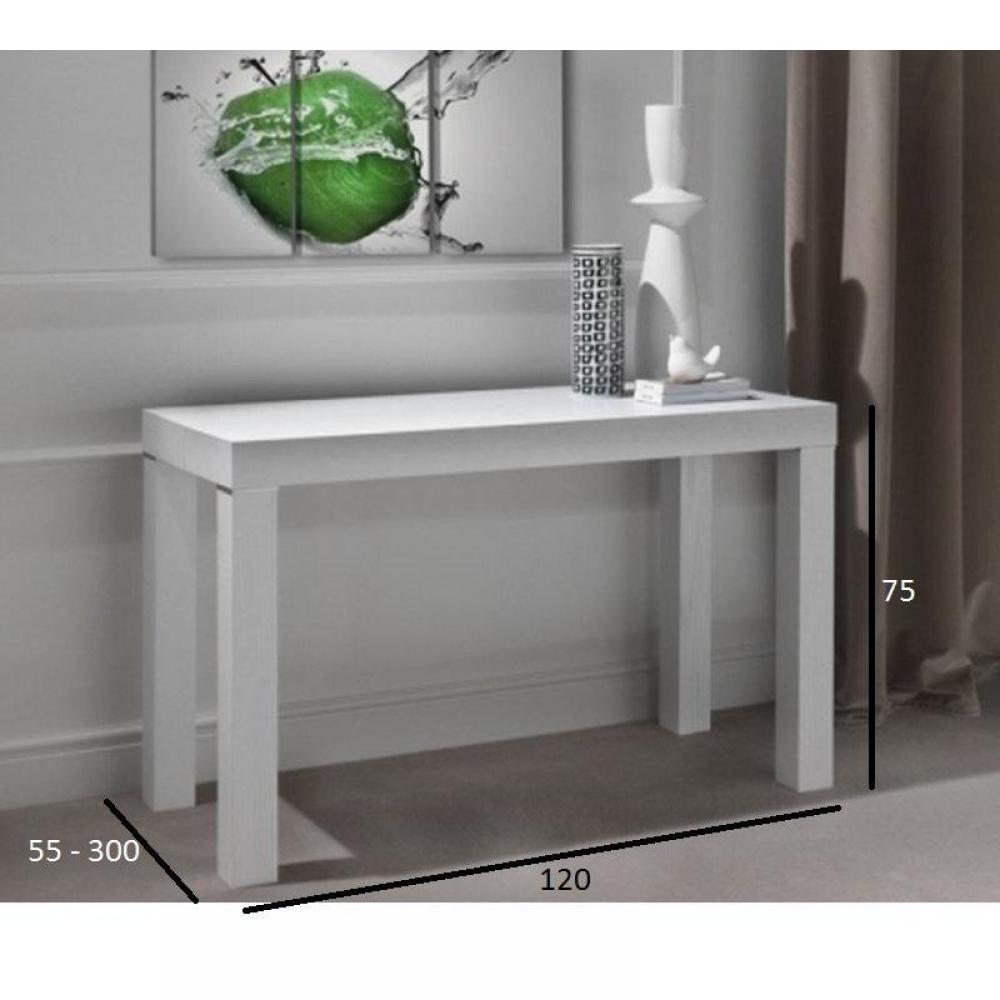 Consoles extensibles tables et chaises console extensible pratika blanche e - Console blanc laque extensible ...