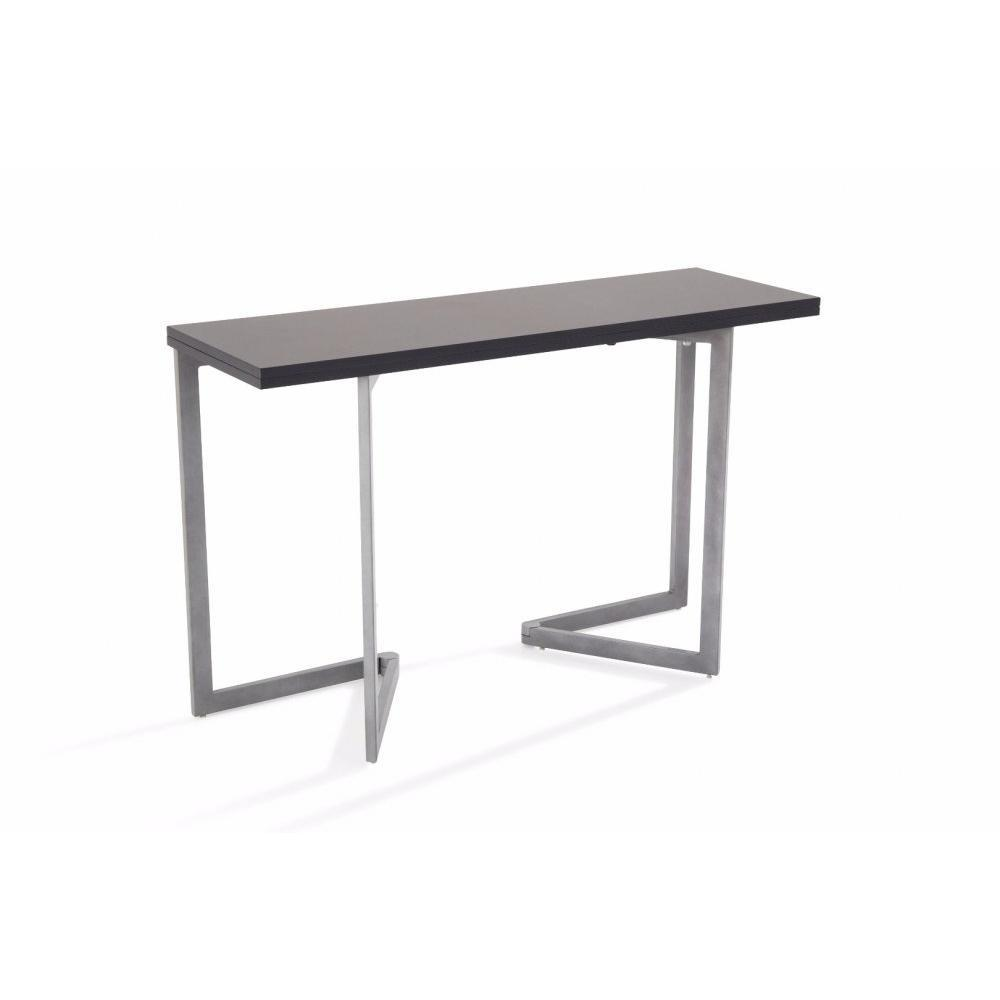 consoles extensibles tables et chaises console extensible rinaldi gris inside75. Black Bedroom Furniture Sets. Home Design Ideas
