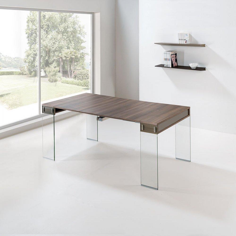 Consoles extensibles tables et chaises console extensible stef orme et taup - Console extensible taupe ...