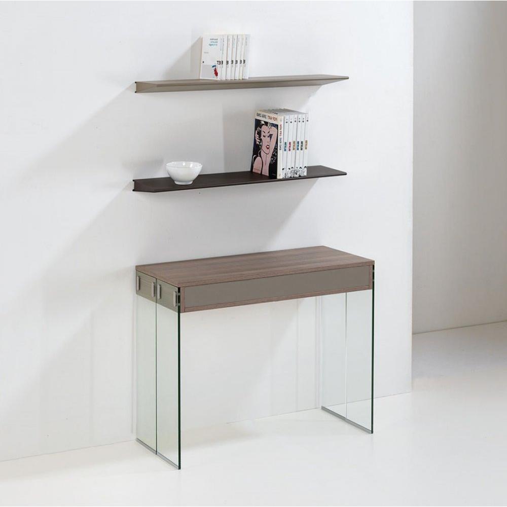 Consoles extensibles tables et chaises console extensible stef orme et taup - Console extensible verre ...