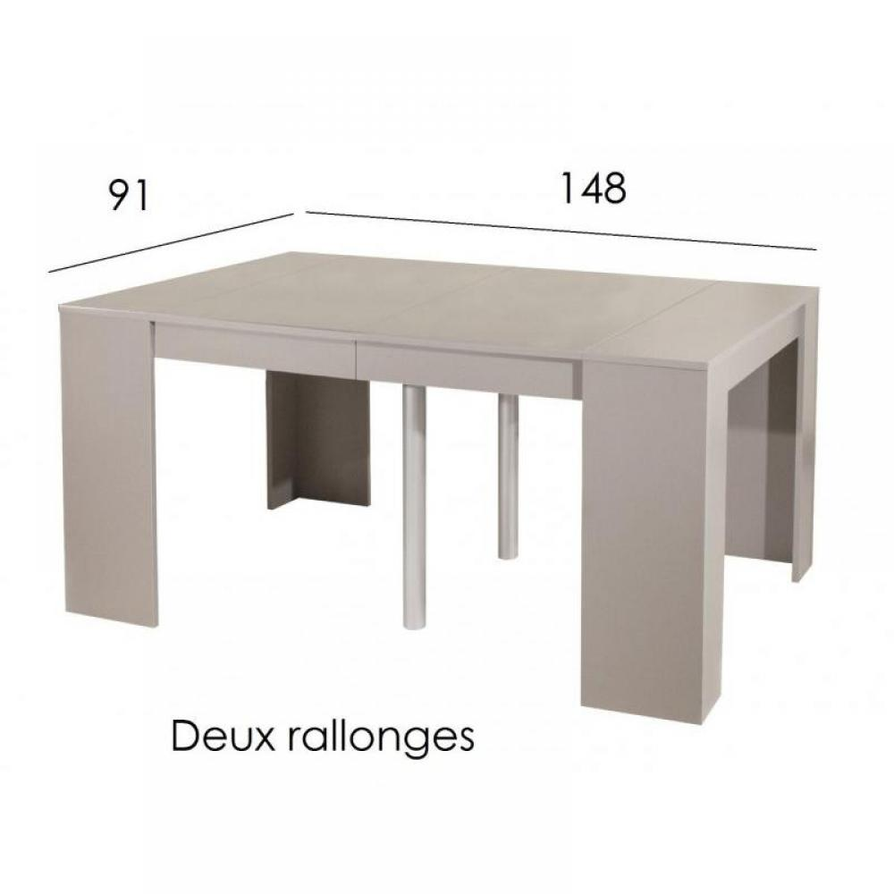 consoles extensibles tables et chaises console elasto taupe mat extensible en table repas 10. Black Bedroom Furniture Sets. Home Design Ideas