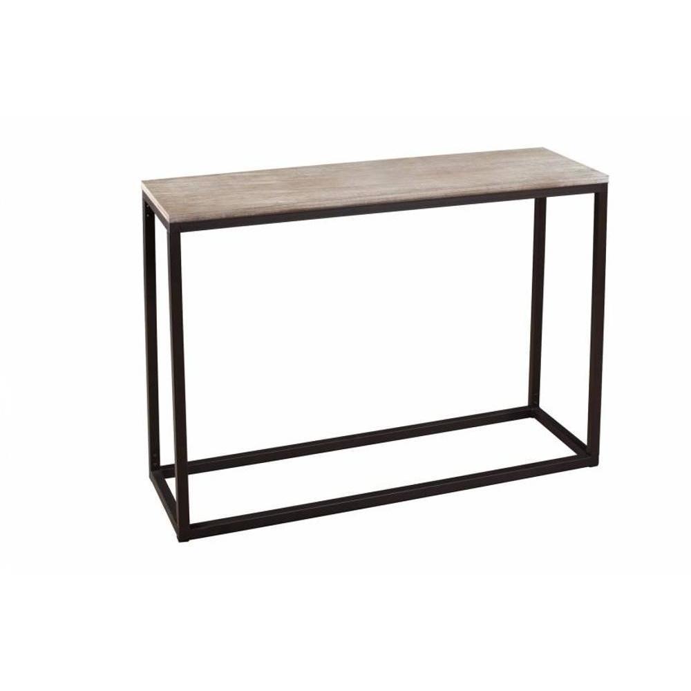 consoles tables et chaises console rectangulaire lea en bois de paulownia et en m tal style. Black Bedroom Furniture Sets. Home Design Ideas
