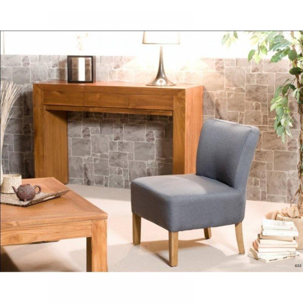 consoles tables et chaises console moderne style colonial en teck massif inside75. Black Bedroom Furniture Sets. Home Design Ideas