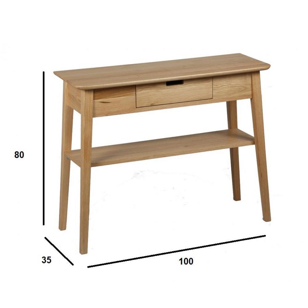 Consoles tables et chaises console olga en ch ne massif inside75 - Tablette en chene massif ...